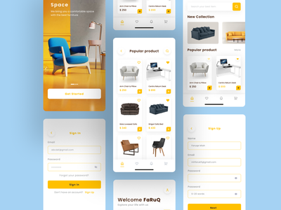 Furniture E-commerce App design e-commerce app minimal ui clean ui minimalist minimal clean design furniture shop furniture website furniture store furniture app uxdesign uiux design uiux ui design uidesign mobile app design mobile app app design ux ui