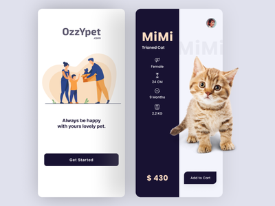 Trained Pet Shop & Service App cat dog pet animal animals pet service app figma pet adoption service app pet app pet shop uiux typhography uidesign uiux design mobile app mobile app design ui design app design ux ui