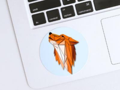 Foxy stickers illustration brands