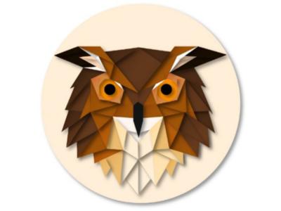 Owl illustration geometric design