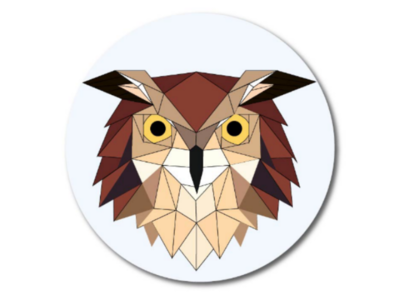 Owl geometric illustration animal