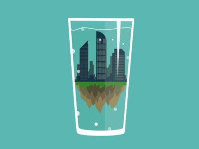 The World in a Cup illustration flat vector geo