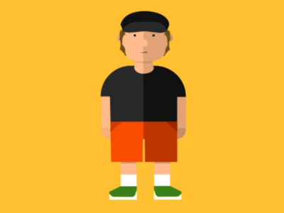 Tim flat illustration character
