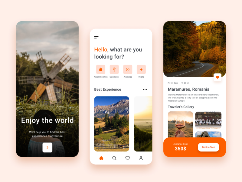 Booking App Daily #12 design booking app travel app dailyui daily100 ux ui
