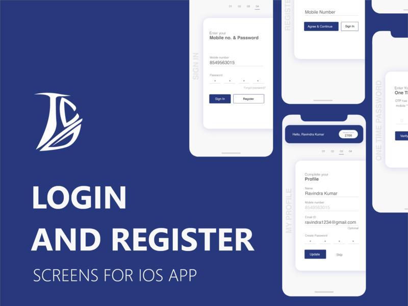 Login & Register uxdesign uidesign app design