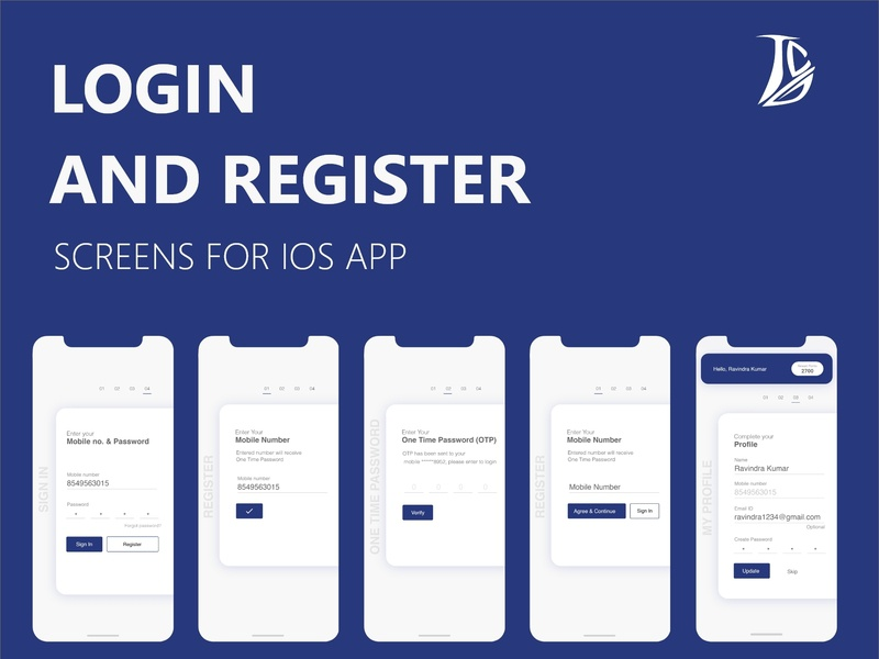 Login Register ux design ui design app design