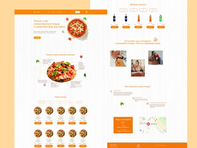 Landing page for the Pizza delivery service
