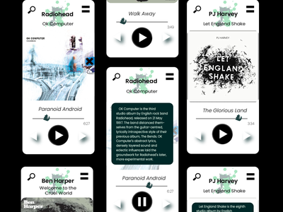 A splash of Music #DailyUI app mobile illustrator logo ux ui