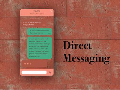 Direct Messaging e-commerce concept direct messaging mobile ux ui illustrator