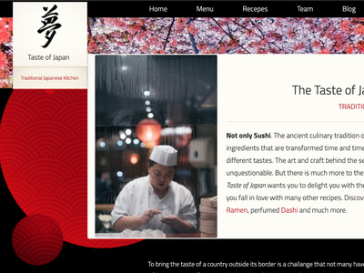 Sushi Restaurant Homepage with HTML5, CSS3 and BOOTSTRAP4 sushi homepage design grids bootstrap4 html5 css3