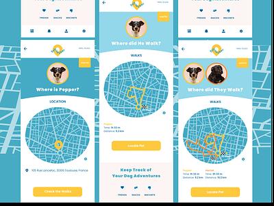 Dog Location Tracker daily ui location tracker behance xd app ux ui