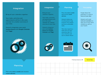 3-Steps Process for a Saas Website bootstrap css html icons responsive design saas website illustrator ui ux