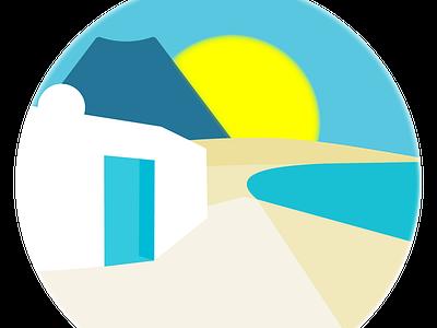 Logo Holiday Rental holiday illustrator logo
