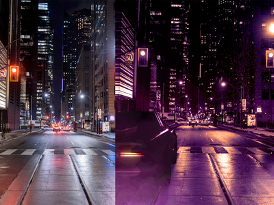 Cyber Vibes - Photoshop before/after adobe photoshop