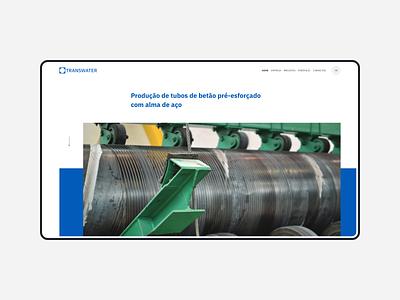 Transwater branding brand wordpress development design website alaska webdesign web ux ui
