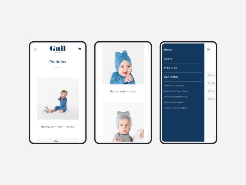 Guil mobile webdesign website web design alaska baby cart shopify development products brand shop ecommerce