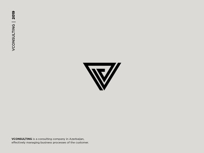 VCONSULTING Logo and Brand Identity monogram accounting services elegant business branding and identity consulting logo design symbol vector lettermark icon branding