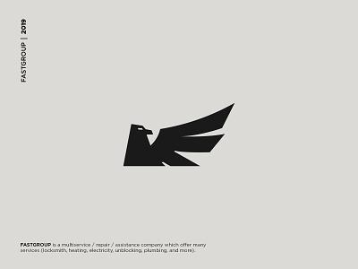 Eagle Logo - Fastgroup Logo bird logo eagle logo bird eagle branding logo