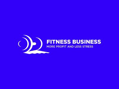 Fitness logo. Fitness Business Logo blue fitness mark fitness app gym logo fitness business logo fitness business fitness logo branding logo