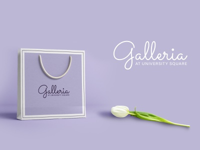 Galleria Shopping Mall Logo purple feminine logo handwriting shopping mall logo shopping mall shopping logo logo