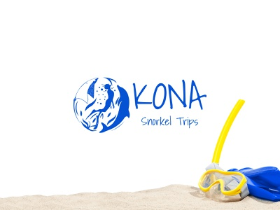 Snorkeling Logo for Kona Snorkel Trips dolphin logo sea swimming logo diving swimming swim snorkeling logo snorkel logo snorkeling snorkel logo