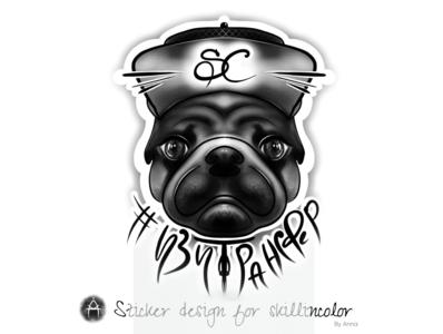 His name is Boris ♥ персонаж графика иллюстрация illustration character design design branding logo imagination graphic design