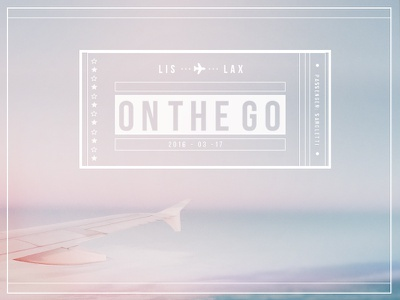 on the go | ✈  type pastel usa ticket plane