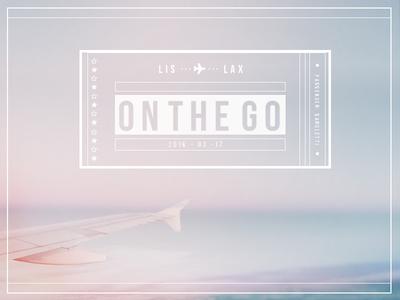 on the go | ✈  type pastel usa ticket plane