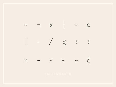 ☓ salty glyphs ⊙ pastell typo glyphs