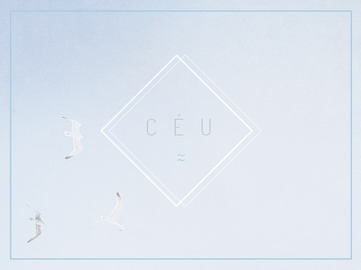 ceu | ☁ birds design minimal blue sky