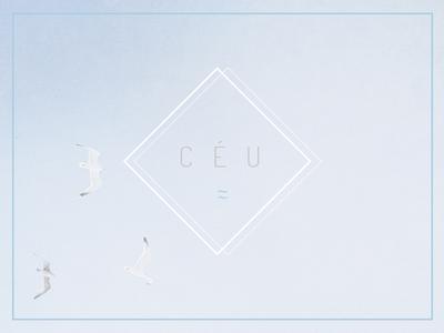 ceu | ☁ birds design minimal blue sky