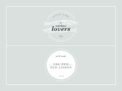 o Dolce Vida o  fish pasted serif identity brand graphic