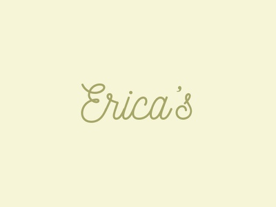 erika's  scribble yellow typography
