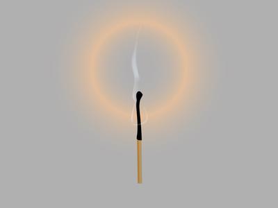 match fire stick matchstick light flammable bonfire heat bright hot spark smoke object abstract wood burnt burn black logo illustration vector
