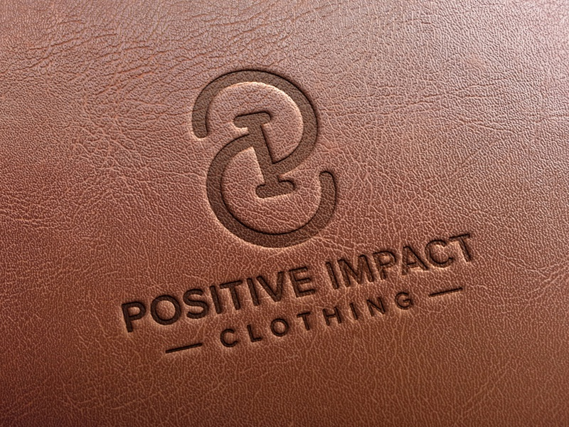 P0sitive Impact Clothing leather clothing brand vector logo icon logo design branding and identity branding brand identity brand design