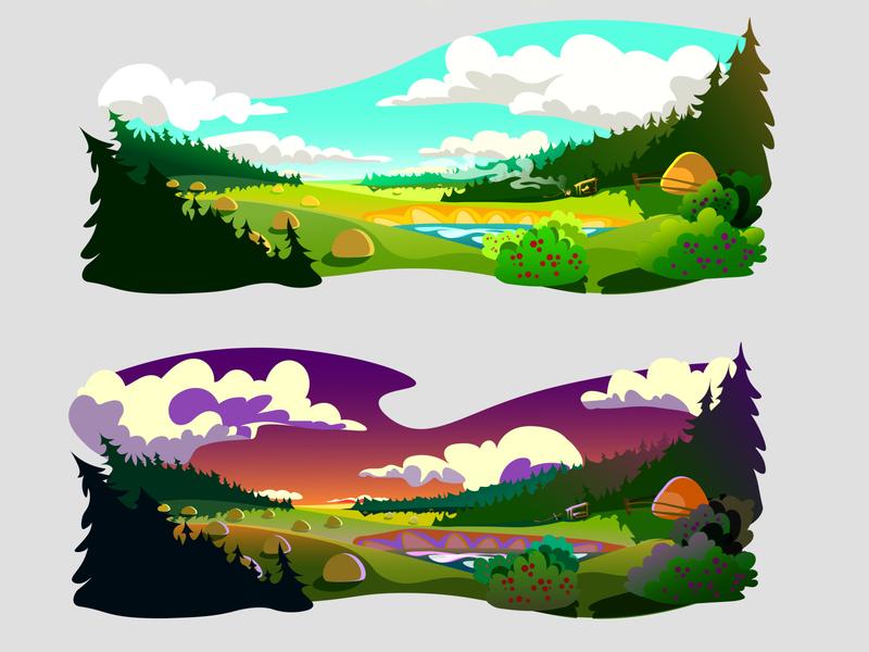 My summer 2020 nature art vector illustration design