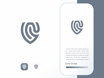 fingerprint fingerprint branding ui app simple logo monogram logo icon flat illustration app icon
