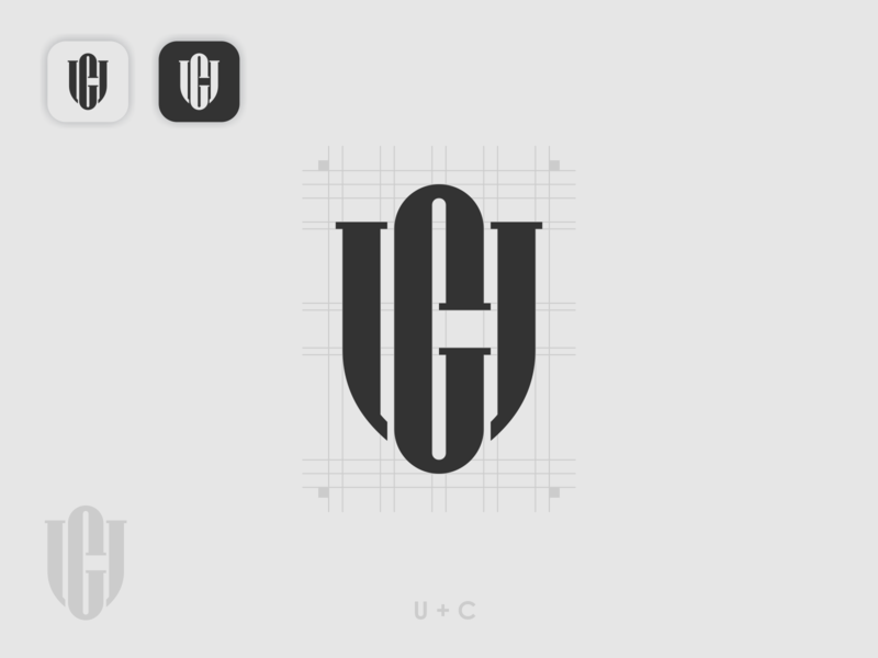 UC monogram initial uc ui illustration app icon flat branding app icon simple logo monogram logo