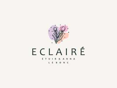 Eclaire logo design nature leaf colorful flower brand illustration app simple logo monogram logo icon flat branding app icon