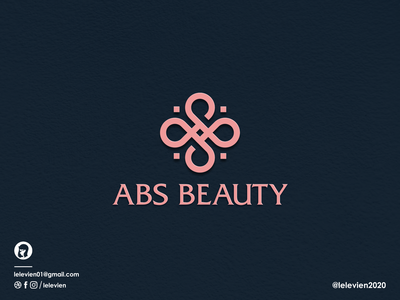 ABS Beauty logo brand illustration app simple logo monogram flat branding app icon logo icon
