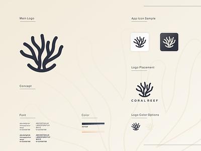coral reef mini brand guide reef coral brand illustration app simple logo monogram flat branding app icon logo icon
