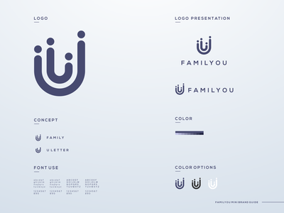 familyou logo design business brand illustration app simple logo monogram flat branding app icon logo icon