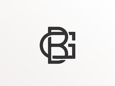 BG logo ui illustration design simple logo monogram flat branding app icon logo icon