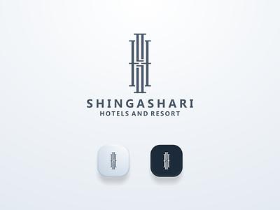 Shingasari Brand guide logomark logos clean guide brand elegant shlogo ui illustration design simple logo monogram flat branding app icon logo icon