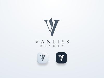 Vanliss Beauty simple clean v logo beauty ui illustration design simple logo monogram flat branding app icon logo icon