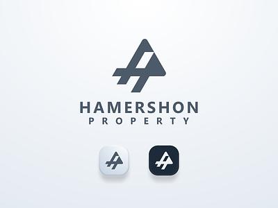 Hamershon Properties Logo simple clean hplogo brand logobrand logos ui illustration design simple logo monogram flat branding app icon logo icon