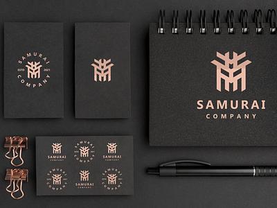 Samurai Company elegant simple clean logoinspiration brand logomark logos samuirai illustration design simple logo monogram flat branding app icon logo icon