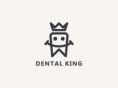Dental King logoinspiration logobrand brand logomark logos elegant simple line king dental ui illustration design simple logo monogram flat branding app icon logo icon