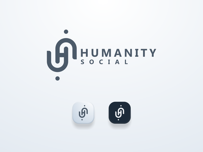 H Logo Concept elegant clean humanity hloho ui illustration design simple logo monogram flat branding app icon logo icon
