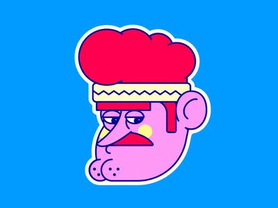 SEÑOR 2D sticker illustrator illustration character